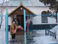 В Неделю «О Страшном Суде» епископ Петропавловский и Булаевский Владимир совершил Божественную Литургию в Казанском храме города Мамлютка