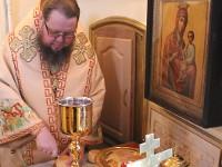 Епископ Петропавловский и Булаевский Владимир возглавил Литургию в храме Всех Святых