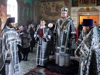 Епископ Петропавловский и Булаевский Владимир совершил первую в наступившей святой Четыредесятнице Литургию Преждеосвященных Даров в городе Булаево