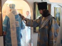 Епископ Петропавловский и Булаевский Владимир совершил Божественную Литургию с селе Благовещенка