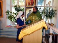 Поклонение святым мощам Севастиана Карагандинского в Введенском храме с. Саумалколь