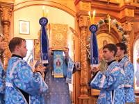 В канун праздника Успения Божией Матери преосвященнейший епископ Владимир возглавил всенощное бдение в главном храме епархии