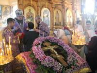 Архиерейское богослужение на праздник Воздвижения Честного и Животворящего Креста Господня прошло в главном храме епархии