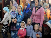 Преосвященнейший епископ Владимир возглавил Божественную Литургию на праздник Покрова Пресвятой Богородицы в Петропавловском соборе города Петропавловска