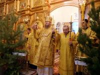 В первый день нового года епископ Петропавловский и Булаевский Владимир совершил Божественную Литургию в кафедральном соборе