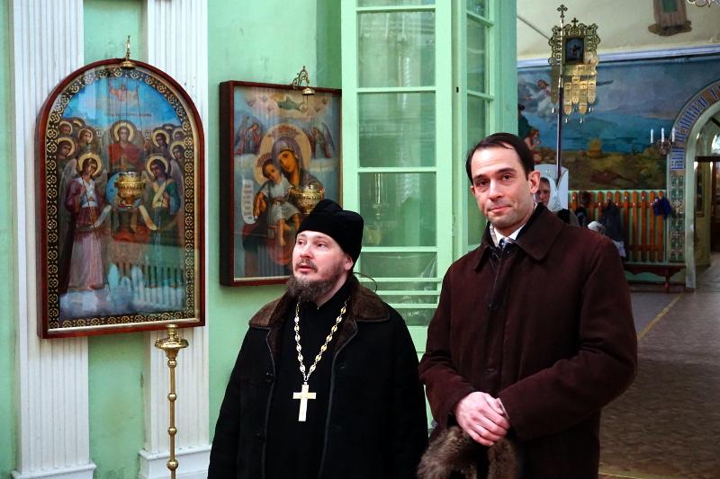 Посещение послом Швеции храмов города Петропавловска