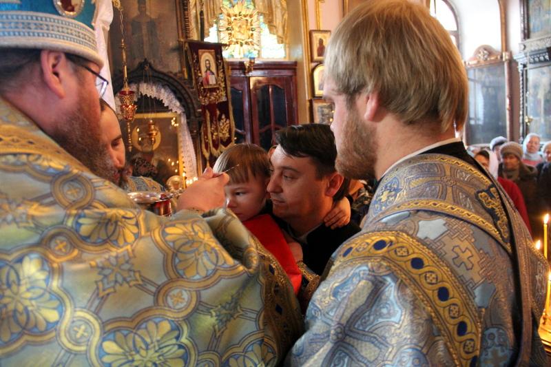 Божественная Литургия в храме Всех Святых города Петропавловска
