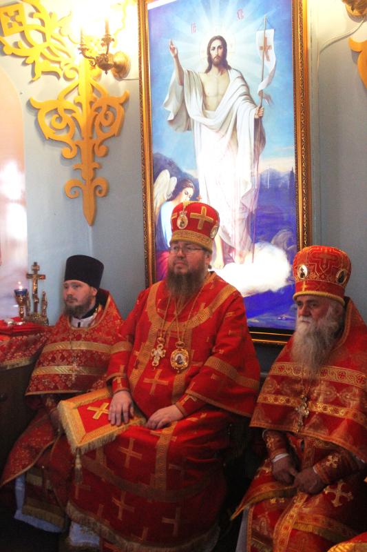 Архиерейское Богослужение в храме Матроны Московской