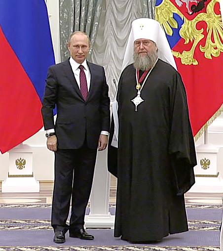 Главе Православной Церкви Казахстана вручен орден Российской Федерации «За заслуги перед Отечеством» III степени