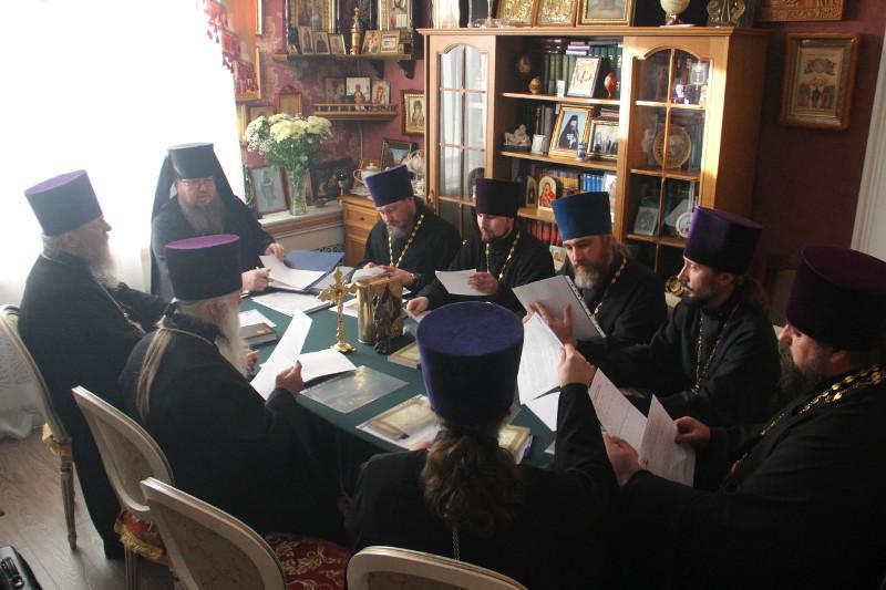 В епархиальном управлении состоялось совещание благочинных Петропавловской и Булаевской епархии