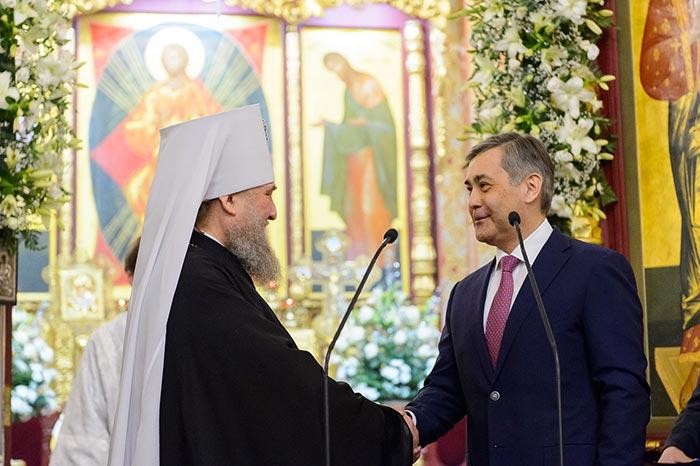Главе Православной Церкви Казахстана вручен орден Парасат (Благородство)