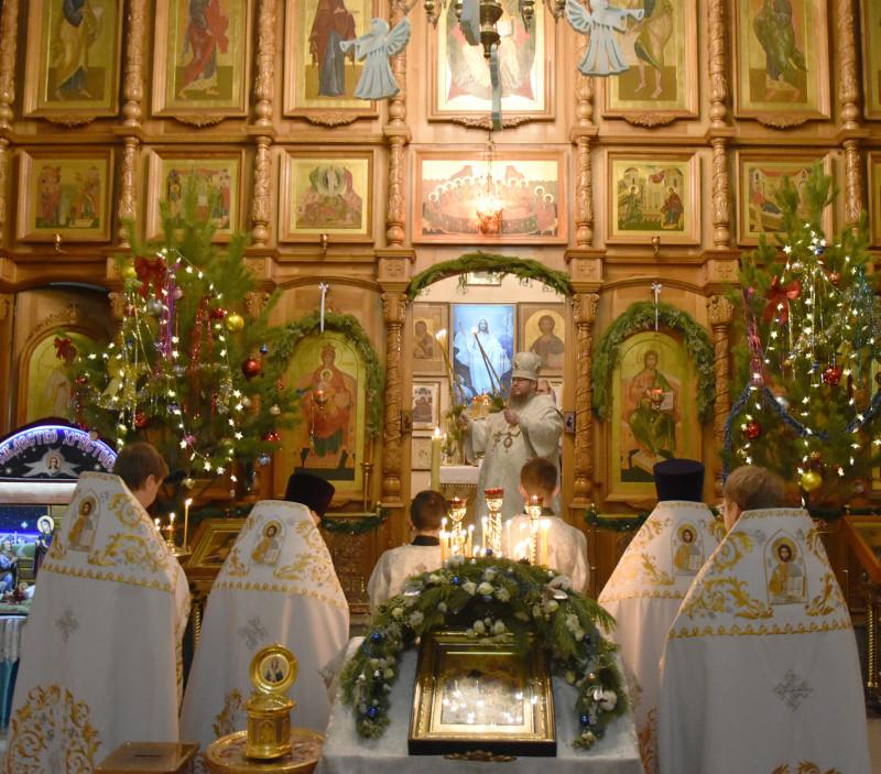 Архиерейская Литургия в день памяти мч. Стефана