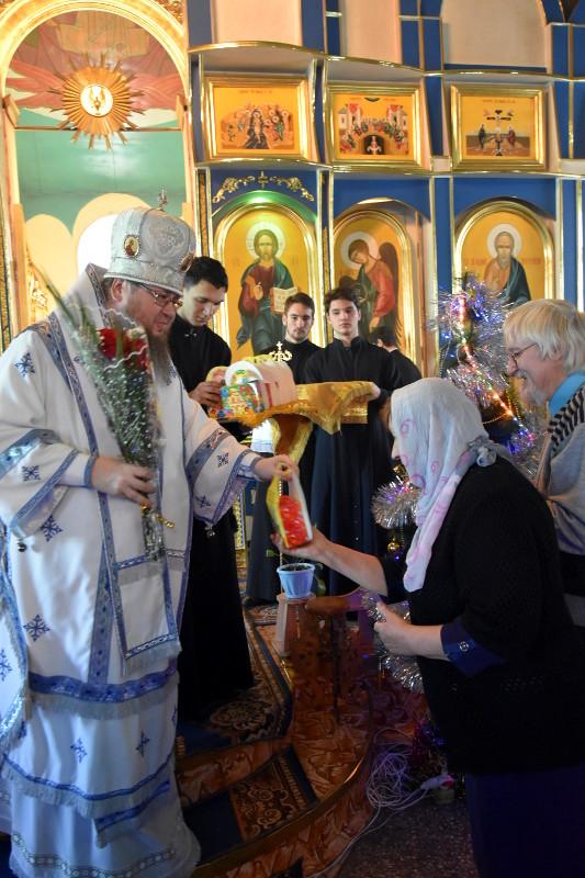 Отдание праздника Рождества Христова в Свято-Никольском Кафедральном соборе г. Булаево