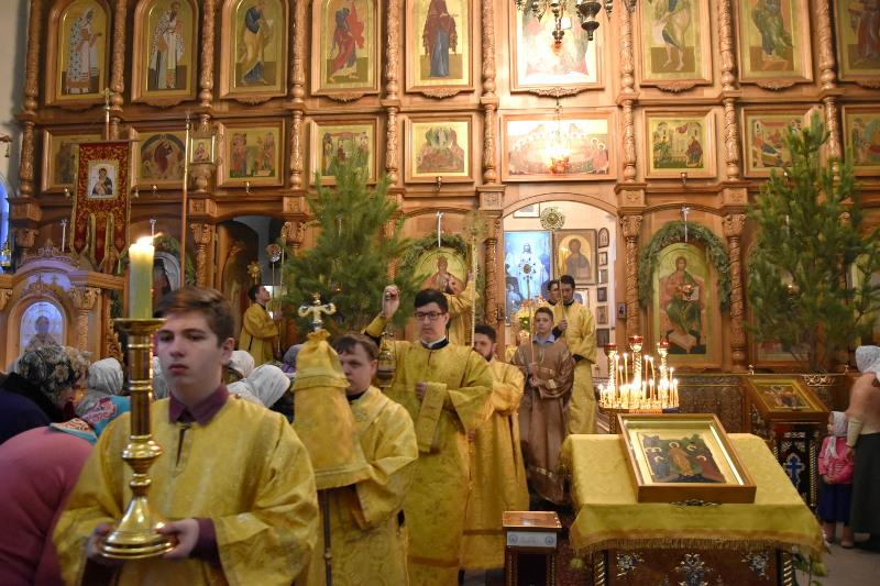Служение Преосвященного епископа Владимира в Неделю о Мытаре и Фарисее