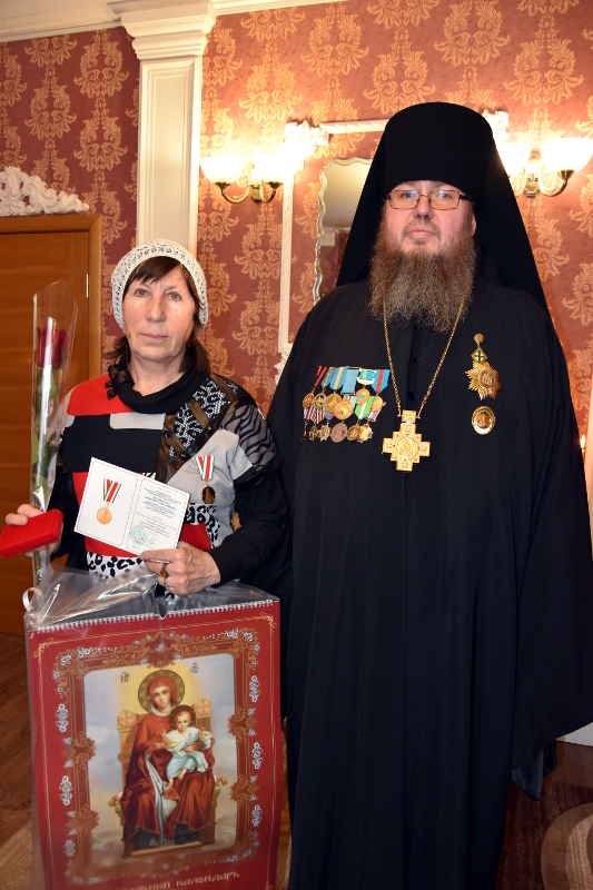 Награждение преподавателей СШ в честь прп. Сергия Радонежского