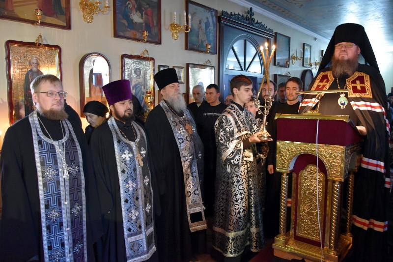 Преосвященнейший епископ Владимир отслужил заключительную часть Великого покаянного канона