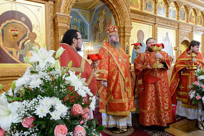 Управляющий Петропавловской и Булаевской епархией сослужил Главе Митрополичьего округа в Серафимо-Иверском монастыре Южной столицы