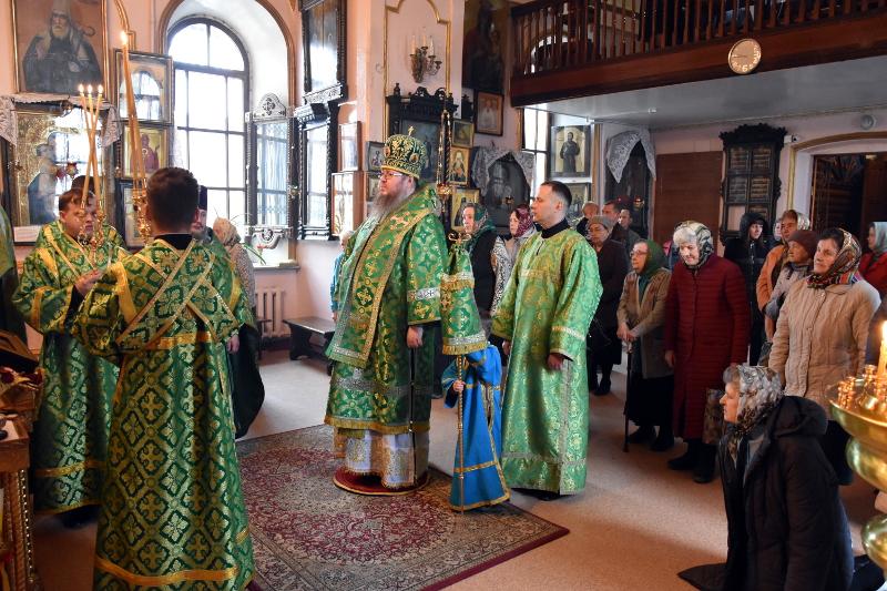 Архиерейское богослужение в день отдания праздника Святой Троицы