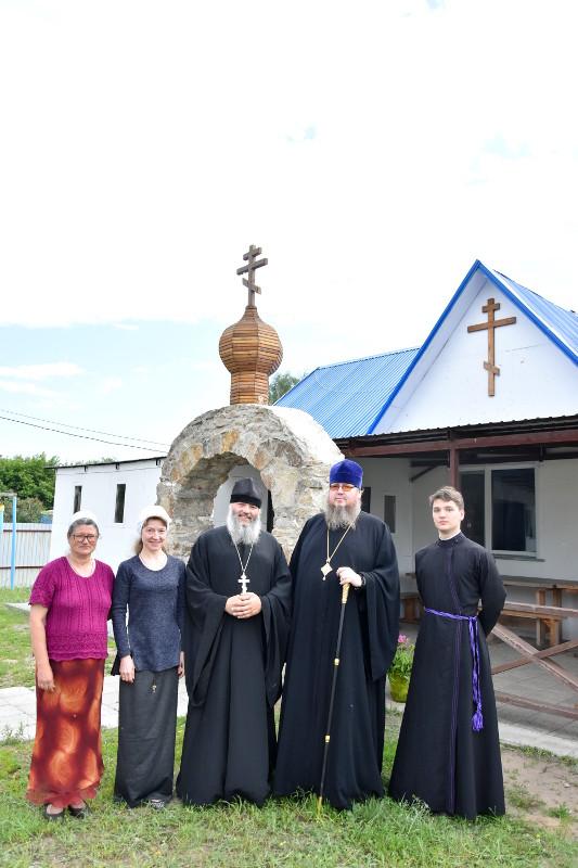 Посещение правящим архиереем храма поселка Бишкуль