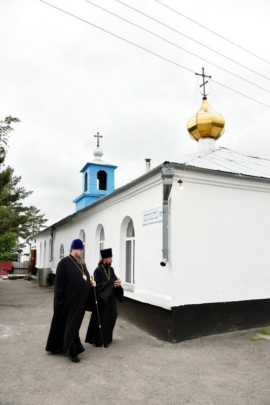 Посещение Правящим архиереем Казанского храма города Мамлютка