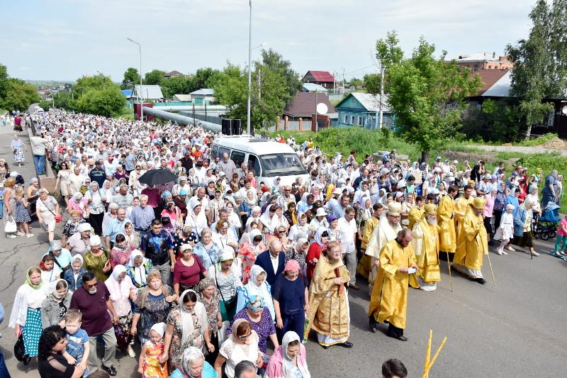 Крестный ход в день небесных покровителей города состоялся в Петропавловске