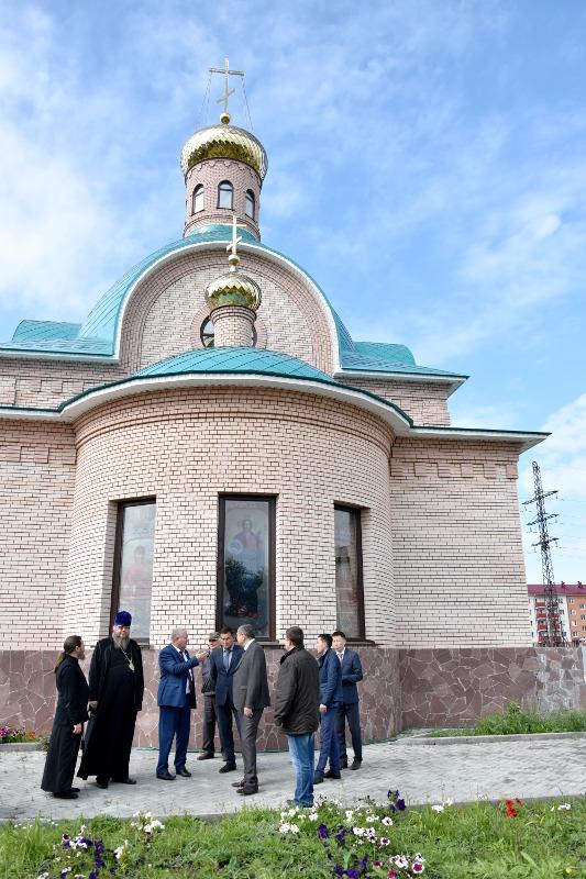 Состоялось рабочее совещание по завершению строительства храма в микрорайоне «Береке»