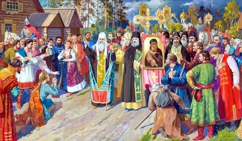 Празднование иконы Божией Матери Владимирской в храме с. Имантау