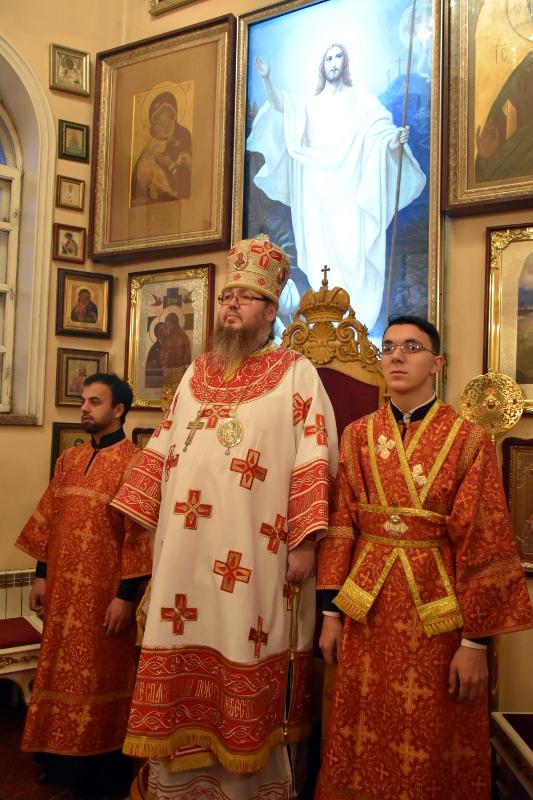 Архиерейское Богослужение в праздник Обновления храма великомученика Георгия в Лидде