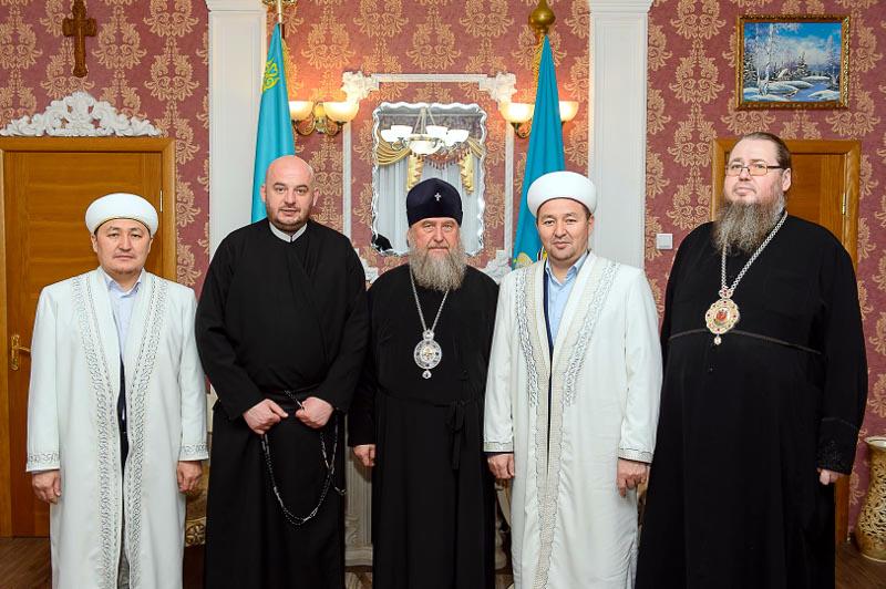 Встреча главы Митрополичьего округа в Республике Казахстан с руководителями Религиозных конфессий области