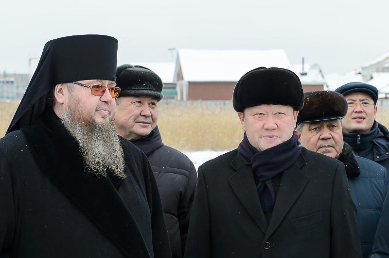 Аким Северо-Казахстанской области посетил новоосвященный Севастиано-Магдалиниский храм города Петропавловска