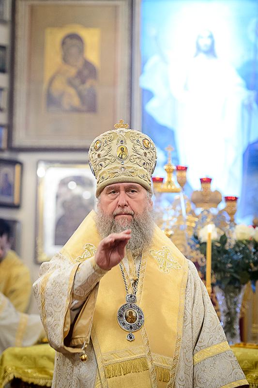 Архиерейское богослужение в день прп. Варлаама Хутынского