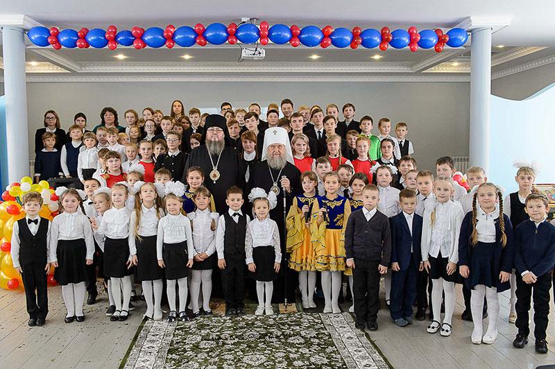 Визит Главы Православной Церкви Казахстана митрополита Астанайского и Казахстанского Александра в школу в честь преподобного Сергия Радонежского