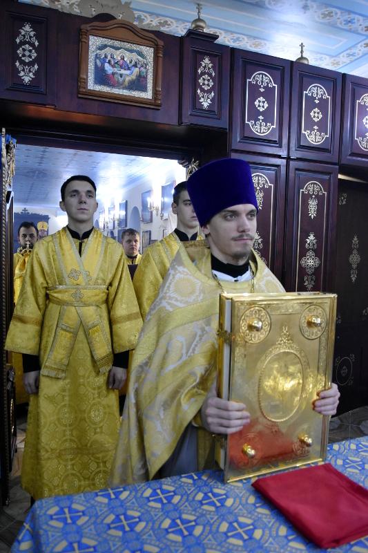 Архиерейская литургия в день святого Благоверного князя Александра Невского