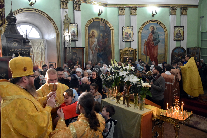 Служение архипастыря в 28-ю неделю по Пятидесятнице