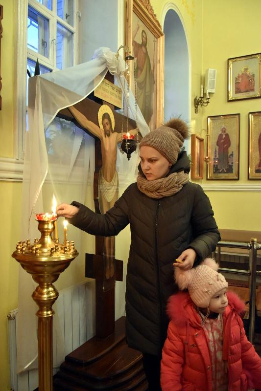 Чтение Царских часов в Кафедральном соборе