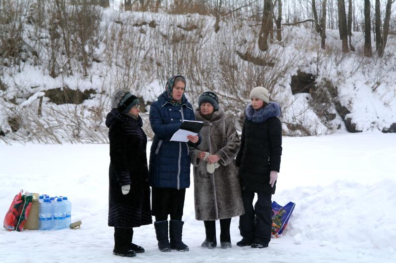 Праздник Богоявления в селе Новоникольское