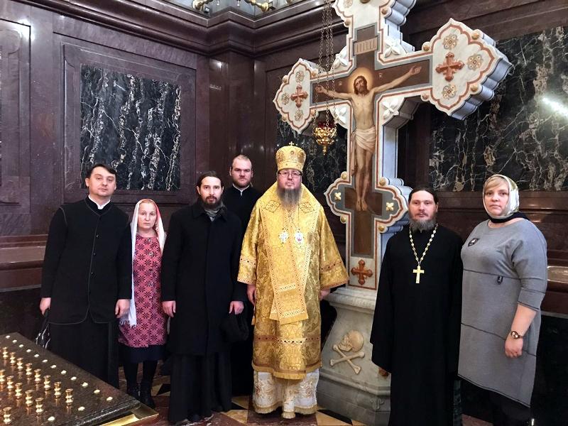Преосвященнейший епископ Владимир сослужил Святейшему Патриарху при открытии Международных Рождественских чтений