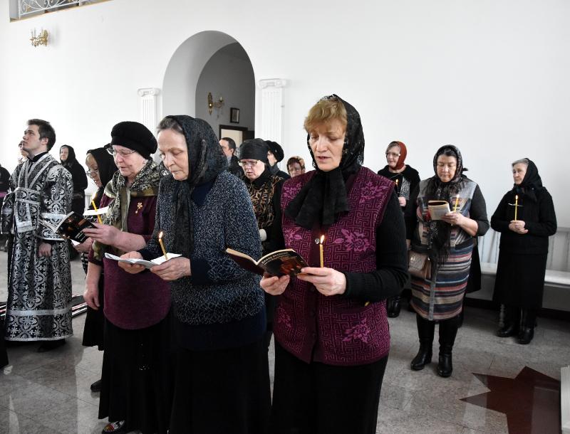Чтение канона в Севастиано-Магдалининском храме