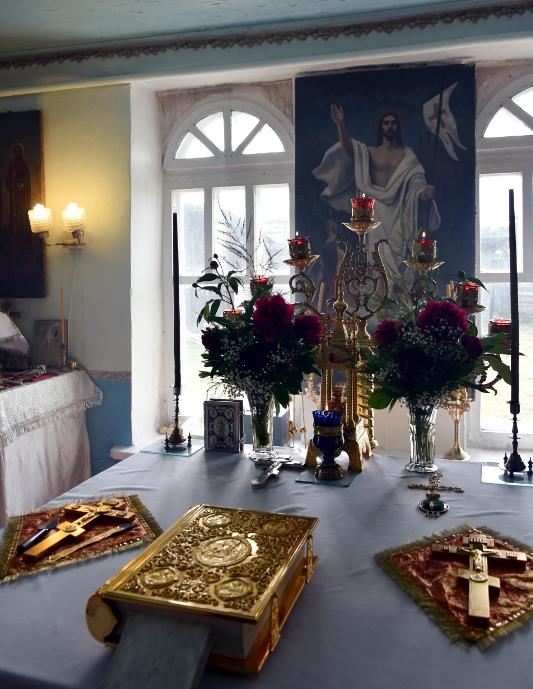 Архиерейское богослужение в приходе Святого Богоявления с. Явленка