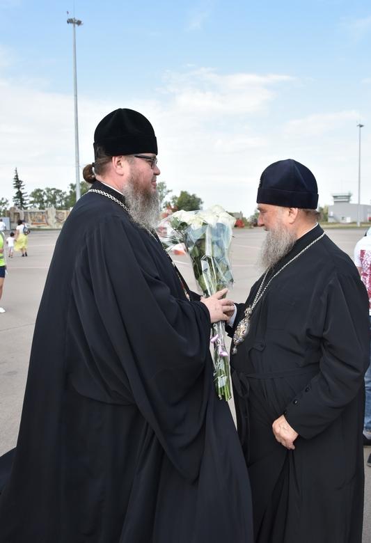 Глава Митрополичьего округа митрополит Александр прибыл с визитом в Северный Казахстан