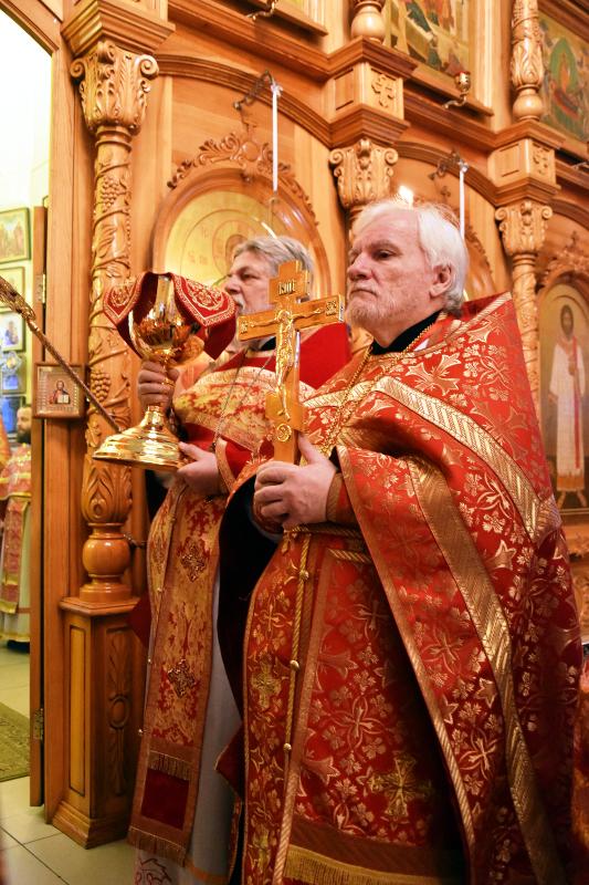 Традиционное богослужение духовенства епархии в Вознесенском кафедральном соборе