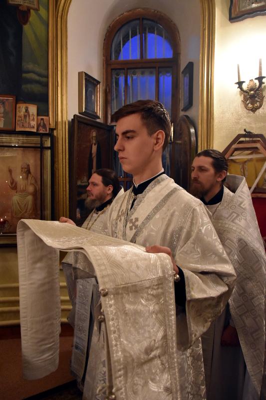 Собор Пресвятой Богородицы. Праздничная Литургия в храме Всех Святых