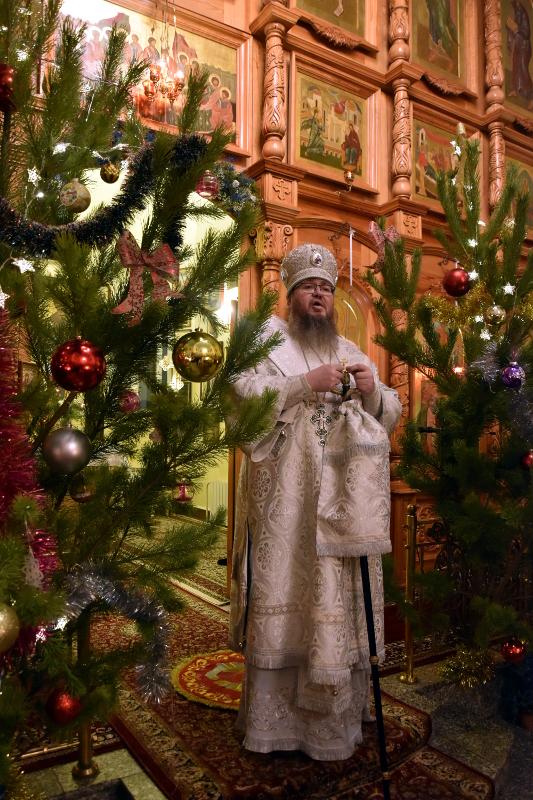 Рождественская вечерня в кафедральном соборе