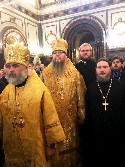 Преосвященнейший епископ Владимир принял участие в богослужении в годовщину интронизации Святейшего патриарха Кирилла