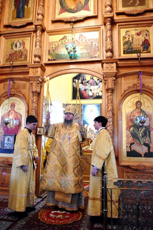 Архиерейская Литургия в Прощеное Воскресенье