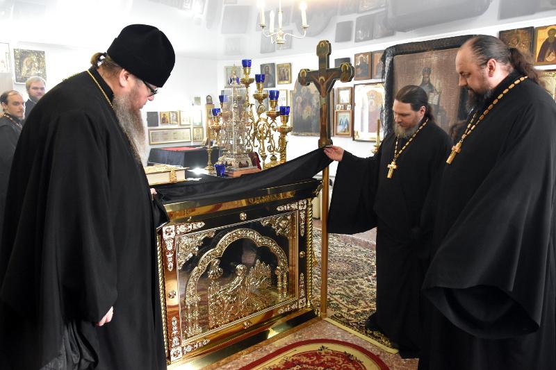 Вопросы реконструкции храма прп. Сергия Радонежского обсудили в ходе визита правящего архиерея в Сергеевку