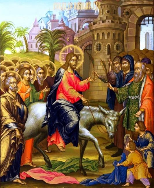Архиерейская Литургия в праздник Входа Господня в Иерусалим