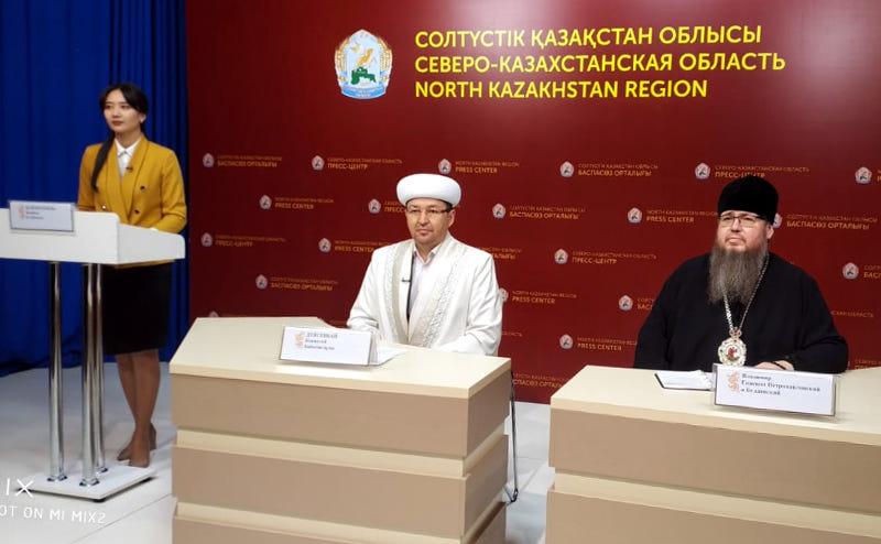 Епископ Владимир принял участие в брифинге на телеканале QYZYLJAR