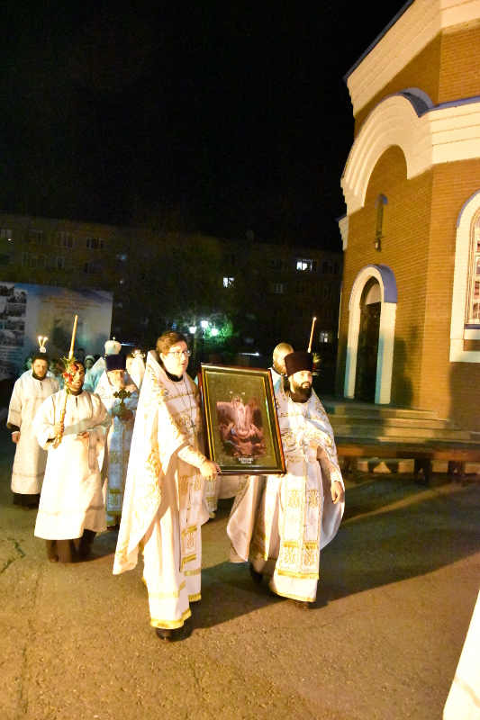 Пасхальное богослужение состоялось в Вознесенском кафедральном соборе