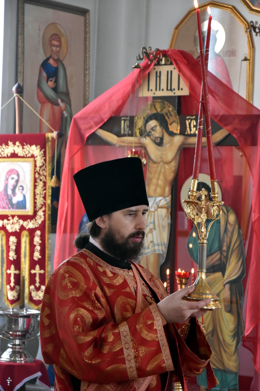 Архиерейская Литургия в день Отдания Праздника Преполовения